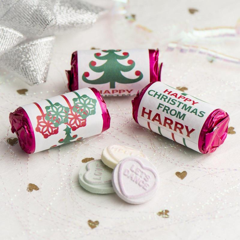 Personalised Christmas Love Heart Rolls