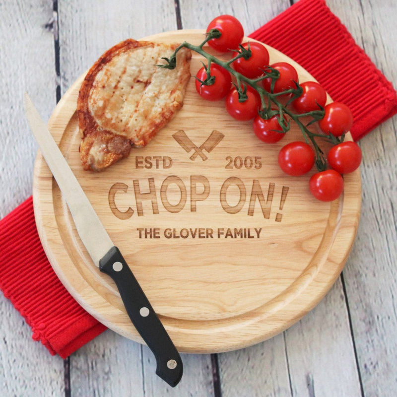 Cheese Board - Personalised Chopping Board - Chop On