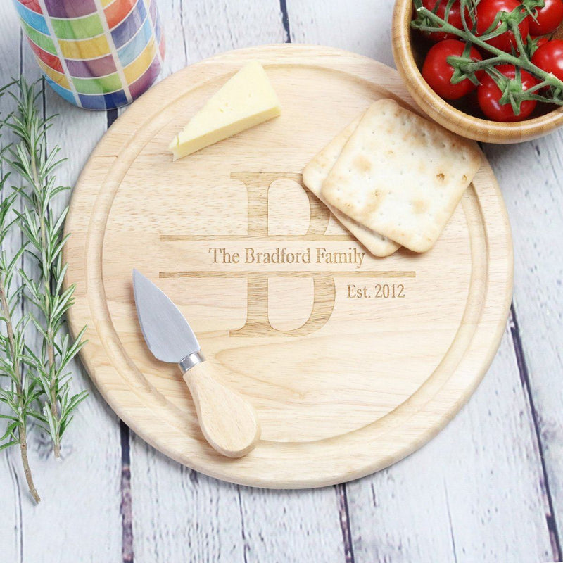 Cheese Board - Personalised Chopping Board - Initial