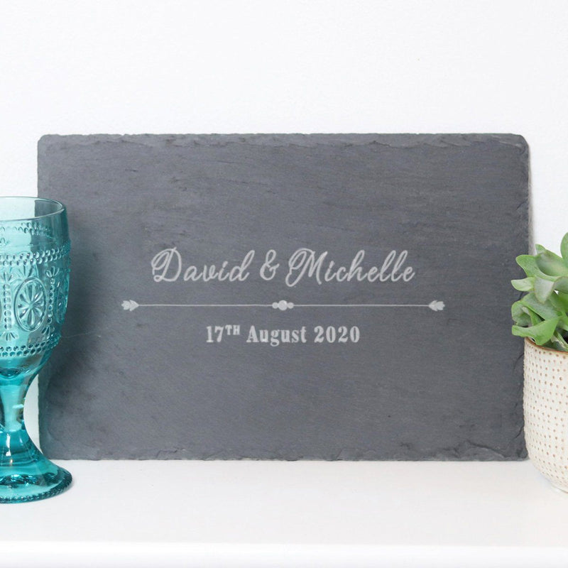 Cheese Board - Personalised Chopping Or Cheese Board - Couple & Date