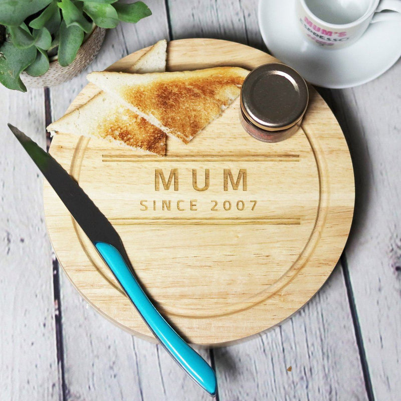 Cheese Board - Personalised Chopping Or Cheese Board - Since