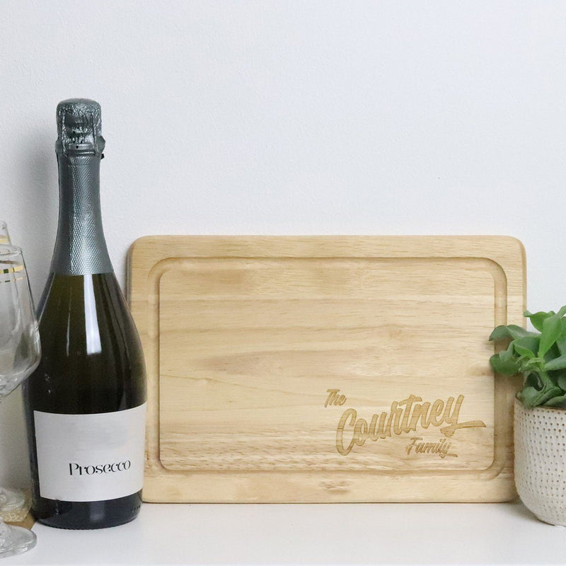 Cheese Board - Personalised Chopping Or Cheese Board - Surname