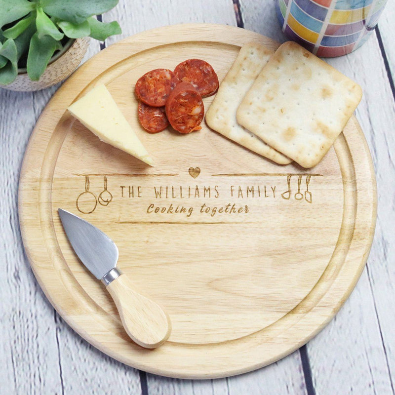Cheese Board - Personalised Chopping Or Cheese Board - Utensils