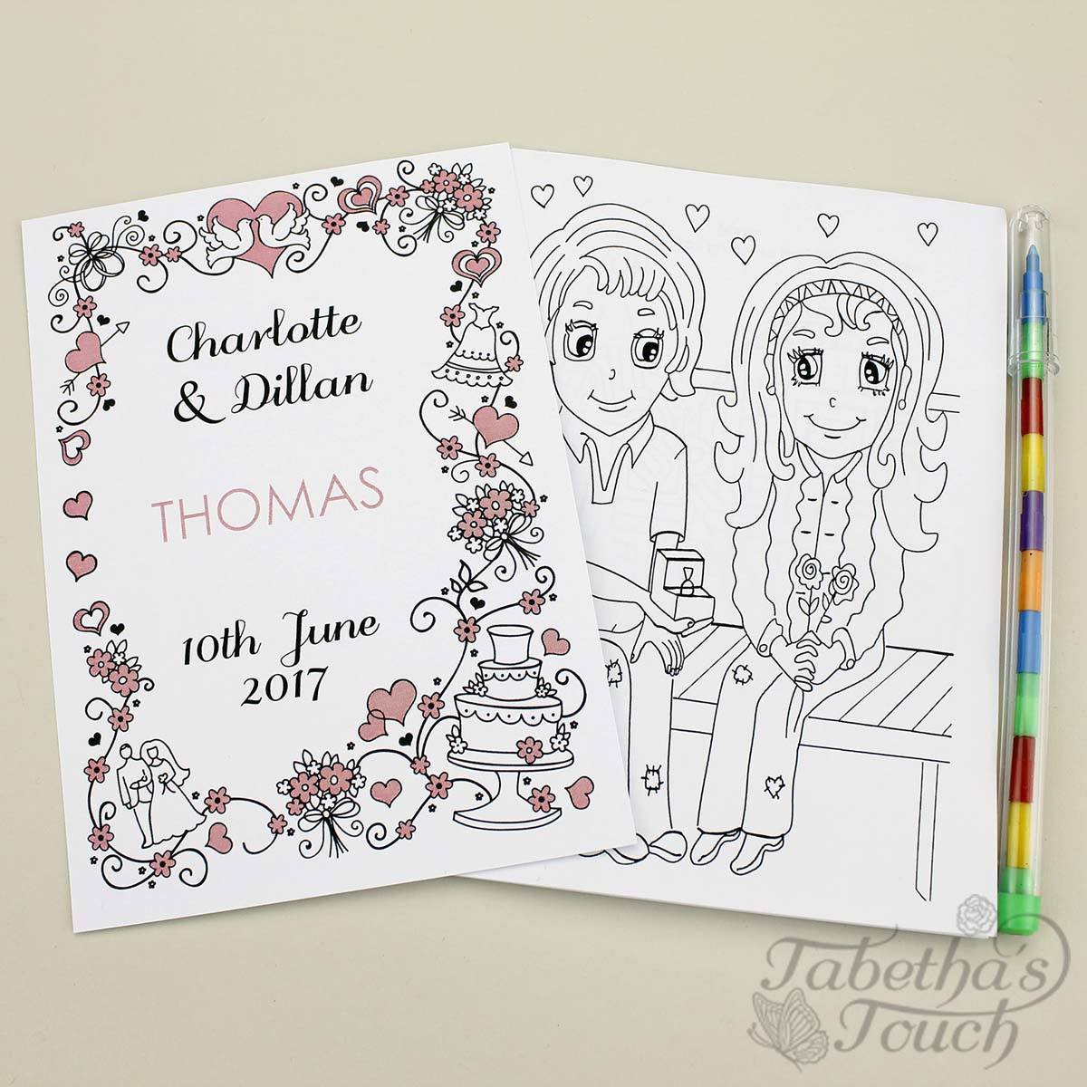 Personalised Childrens Wedding Activity Favour Gift Book - Love Bird ...