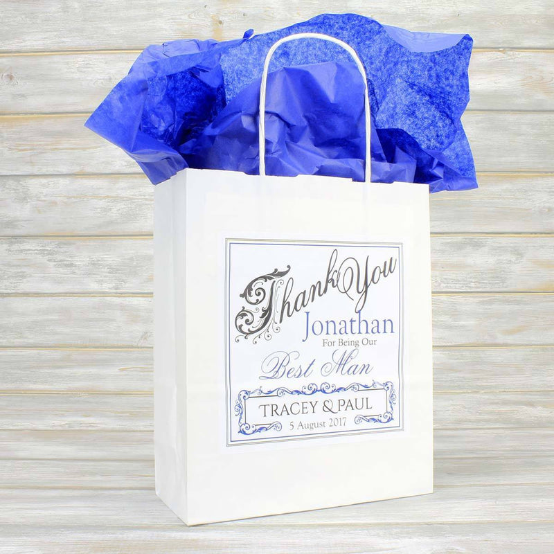 Christening Bag - Personalised Christening Gift Bag With Matching Tissue Paper