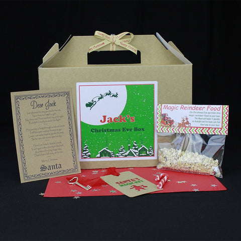 Christmas Box - Christmas Eve Box Personalised With Santa Key, Letter And Magic Reindeer Food - Large