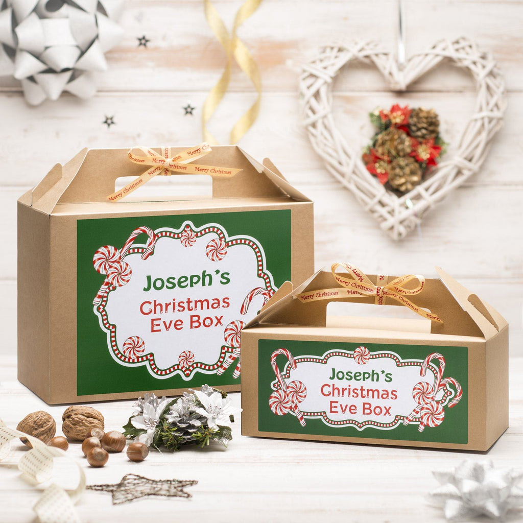 Christmas Box - Personalised Christmas Eve Box - Candy Cane Design