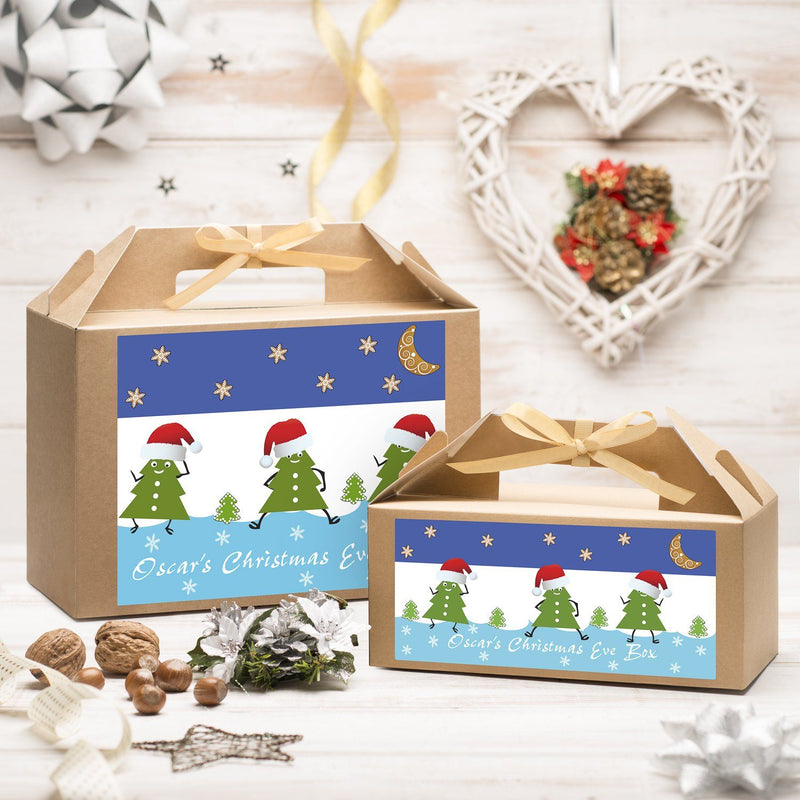 Christmas Box - Personalised Christmas Eve Box - Dancing Trees Design