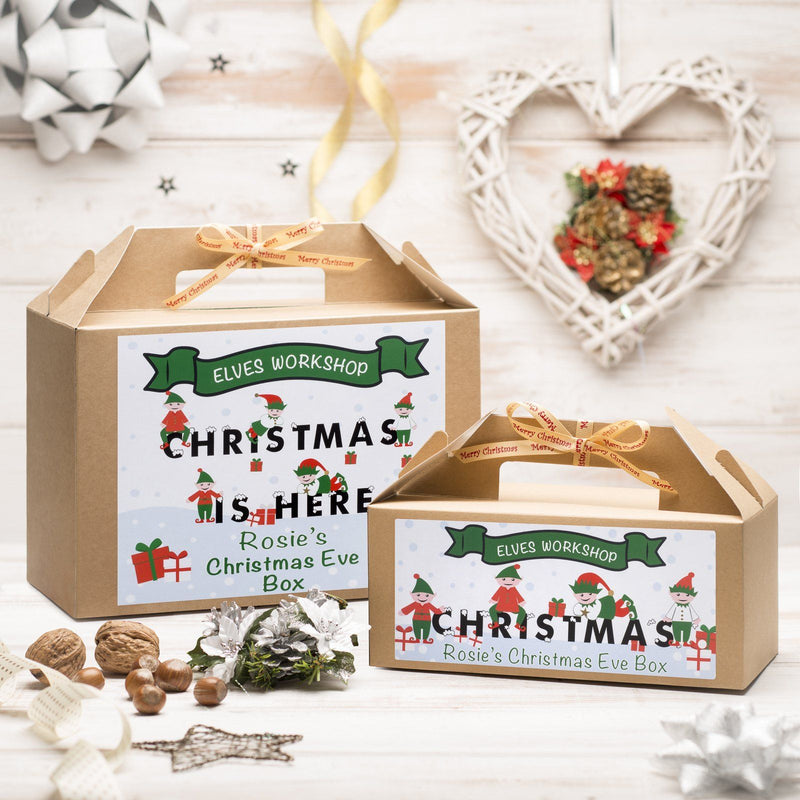Christmas Box - Personalised Christmas Eve Box - Elves Workshop Design