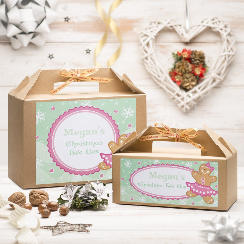 Christmas Box - Personalised Christmas Eve Box - Gingerbread Girl Design