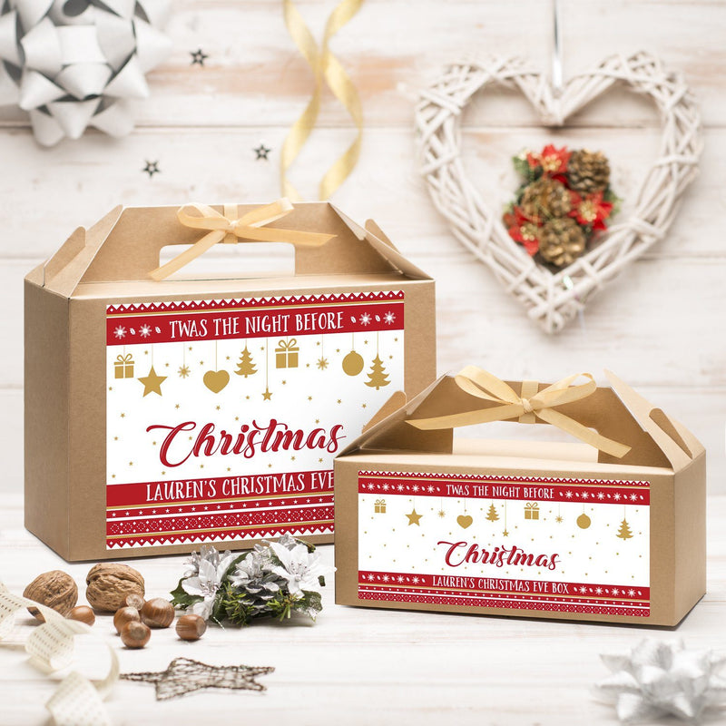 Christmas Box - Personalised Christmas Eve Box - Night Before Christmas Design