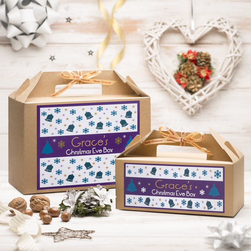Christmas Box - Personalised Christmas Eve Box - Purple Pattern Design
