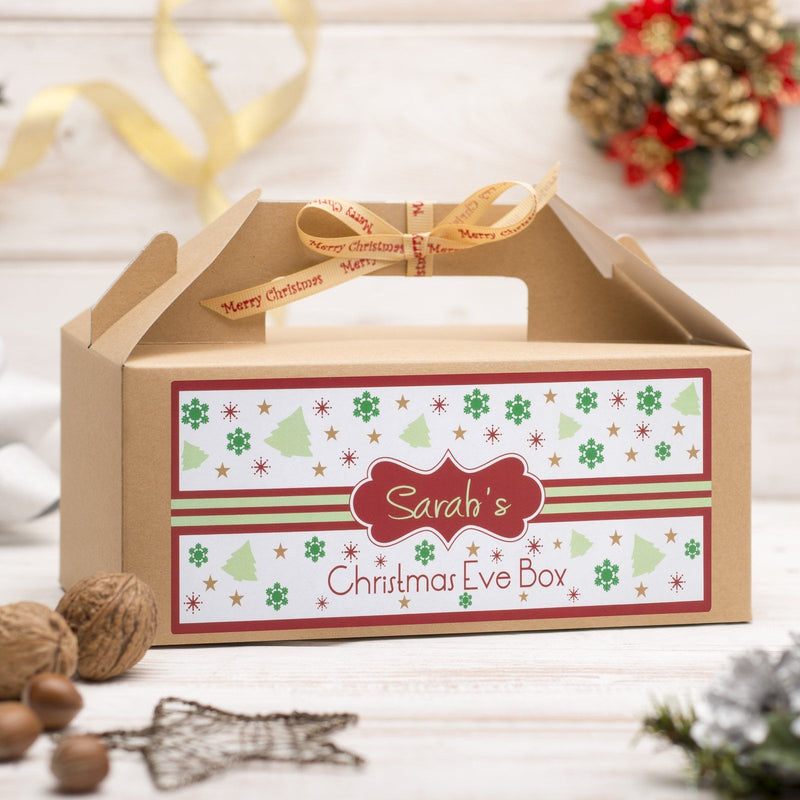 Christmas Box - Personalised Christmas Eve Box - Red Pattern Design