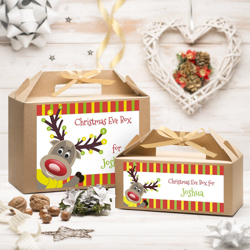Christmas Box - Personalised Christmas Eve Box - Reindeer Design