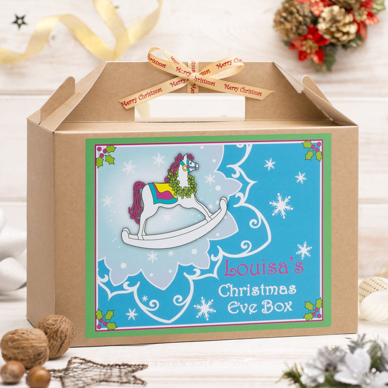 Christmas Box - Personalised Christmas Eve Box - Rocking Horse Design