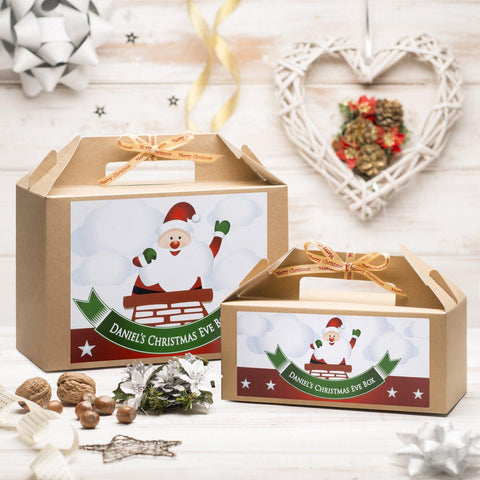 Christmas Box - Personalised Christmas Eve Box - Santa Chimney Design