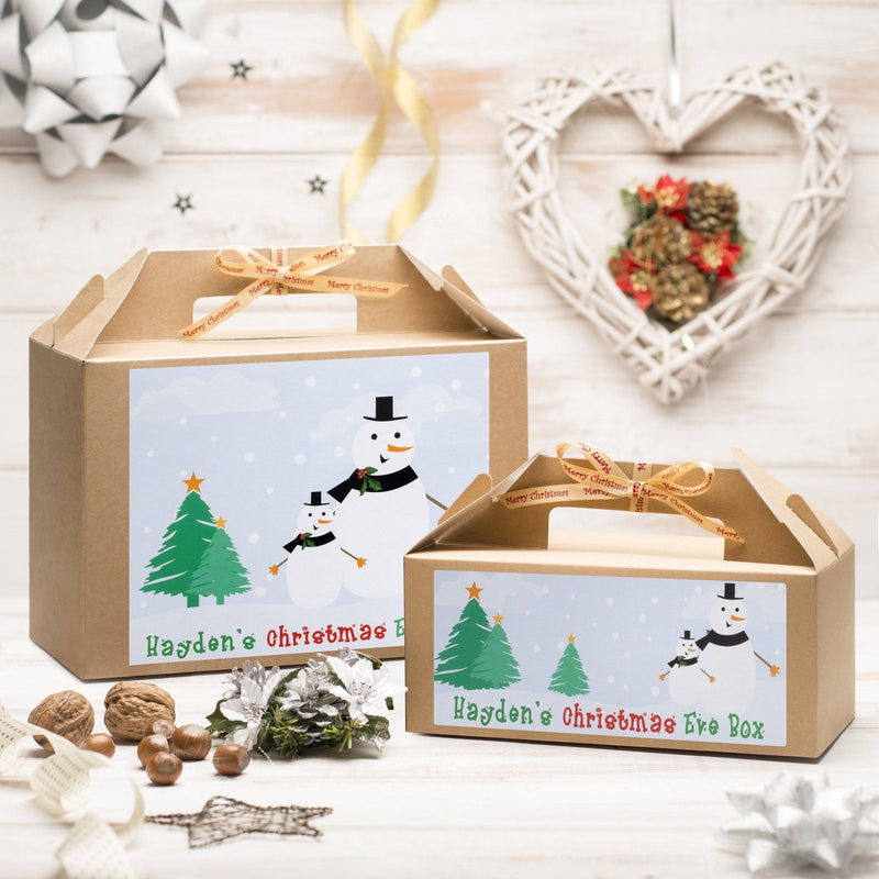 Christmas Box - Personalised Christmas Eve Box - Snowmen Design
