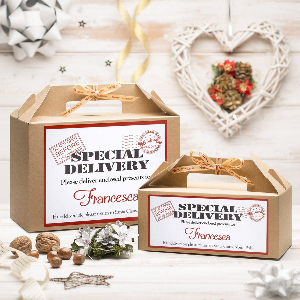 Christmas Box - Personalised Christmas Eve Box - Special Delivery Design