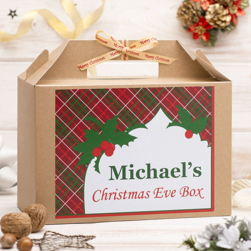 Christmas Box - Personalised Christmas Eve Box - Tartan Design