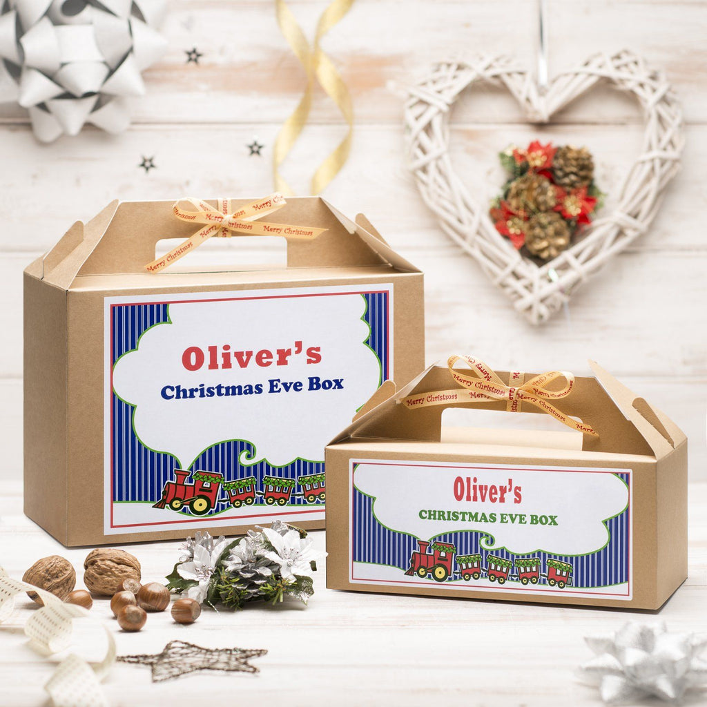 Christmas Box - Personalised Christmas Eve Box - Train Design