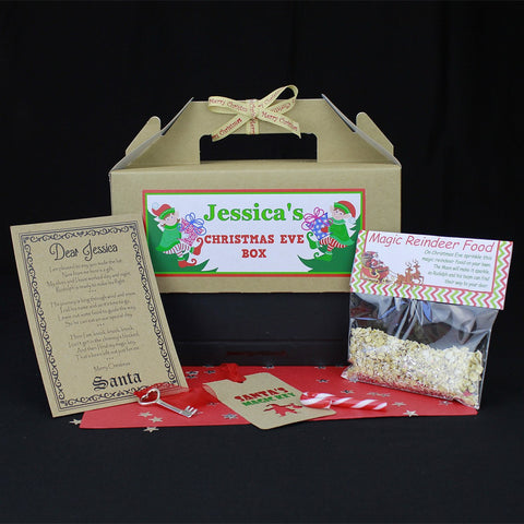 Christmas Box - Santa Christmas Eve Box Personalised With Santa Key, Letter And Magic Reindeer Food