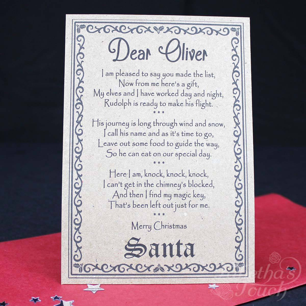 Santa christmas eve box personalised with santa key letter and christmas box santa christmas eve box personalised with santa key letter and magic reindeer spiritdancerdesigns Image collections