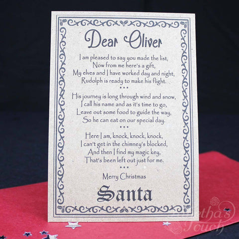 santa christmas eve box personalised with santa key letter and magic