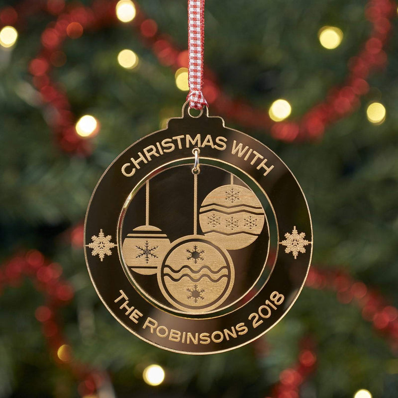 Christmas Decoration - Personalised Bauble Tree Decoration