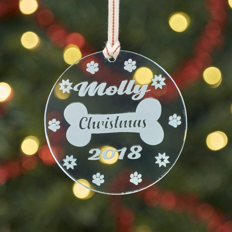 Christmas Decoration - Personalised Dog Bone Tree Decoration