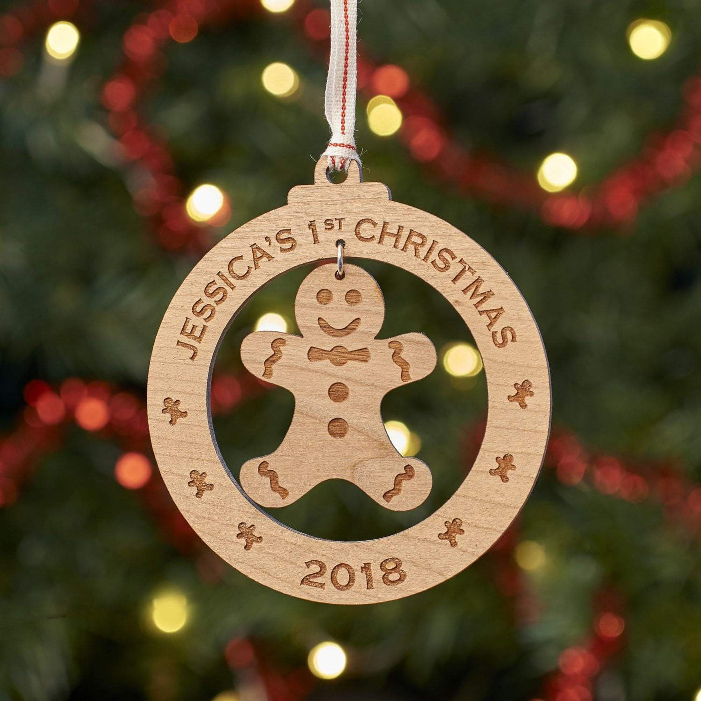 Personalised Gingerbread Man Christmas Tree Decoration