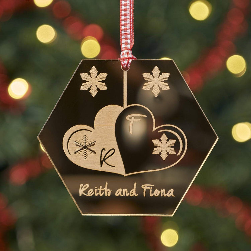 Christmas Decoration - Personalised Hexagon Tree Decoration