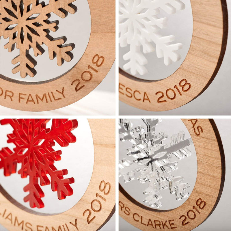 Christmas Decoration - Personalised Snowflake Tree Decoration