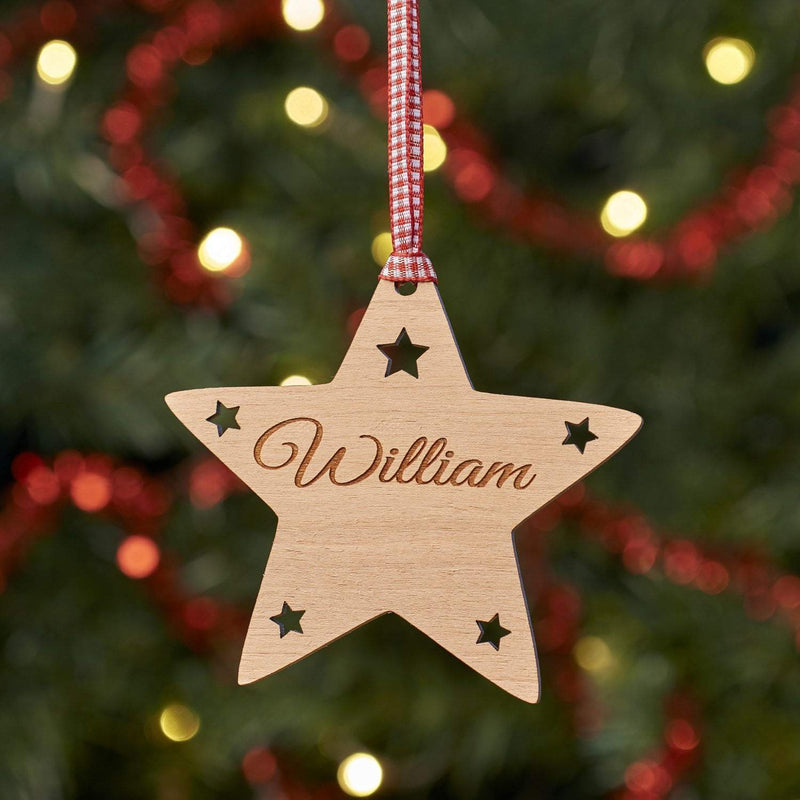Christmas Decoration - Personalised Star Tree Decoration