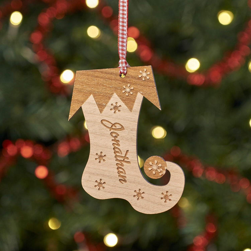 Christmas Decoration - Personalised Stocking Tree Decoration