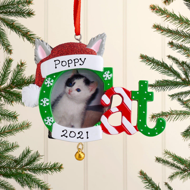 Christmas Ornament - Personalised Christmas Xmas Tree Decoration Ornament - Dog/Cat Photo Frames