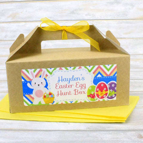 Easter Bag - Personalised Children's Kid's Easter Egg Hunt Bag Or Box