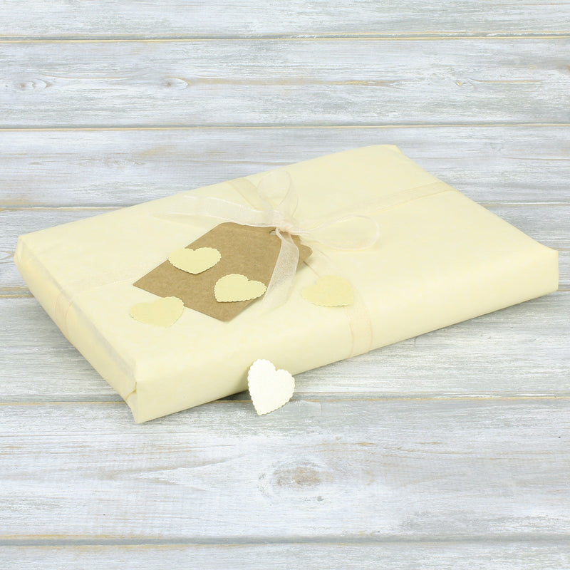 Gift Wrapping Pack - Gift Wrapping Pack Including High Quality Tissue Paper, Organza Ribbon And Self Adhesive Hearts