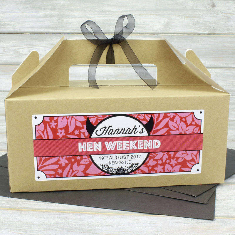 Hen Party Box - Personalised Hen Party Box Gift Favour (Empty) - Horny Devil Design