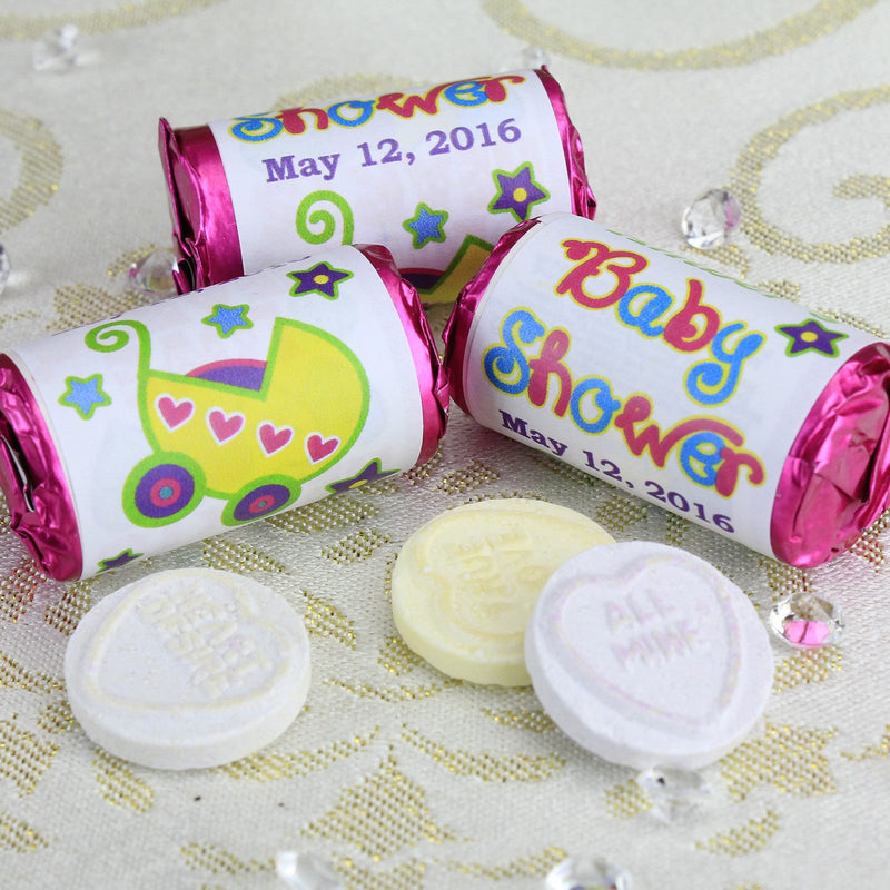 Love Hearts - Personalised Mini Love Hearts Rolls Sweets Favour - Baby Shower
