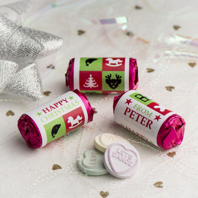 Love Hearts - Personalised Mini Love Hearts Rolls Sweets Favour - Christmas-Boxes