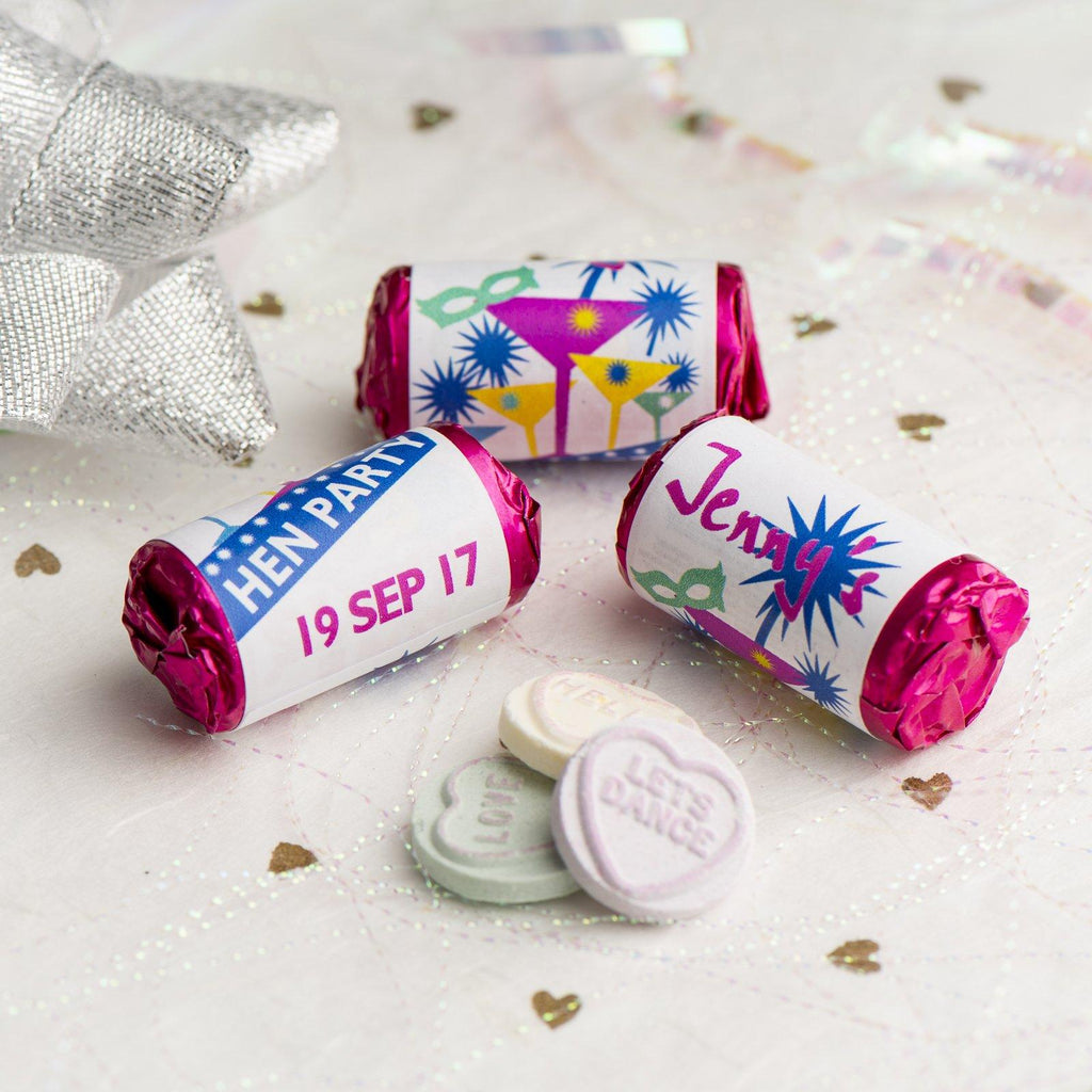 Love Hearts - Personalised Mini Love Hearts Rolls Sweets Favour - Hen Cocktails