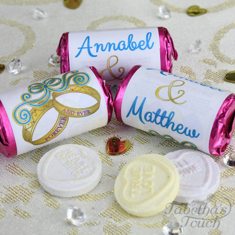 Love Hearts - Personalised Mini Love Hearts Rolls Sweets Favour - Wedding