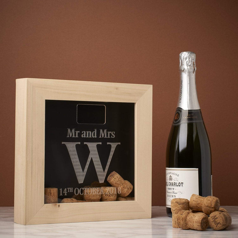 Memory Box Frame - Mr & Mrs Initial Memory Box Frame