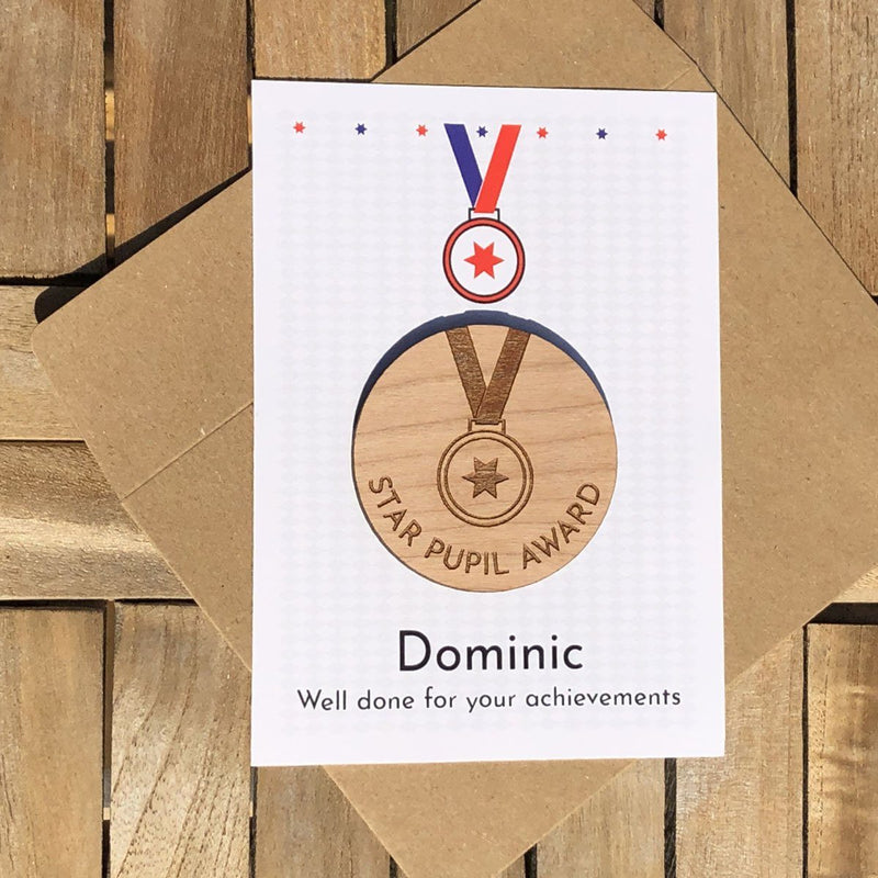 Merit - Personalised Wooden Merit Token - MEDAL