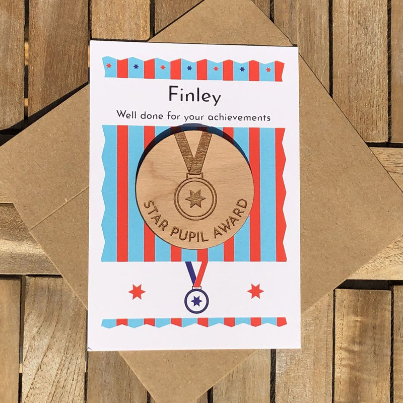 Merit - Personalised Wooden Merit Token - STRIPES