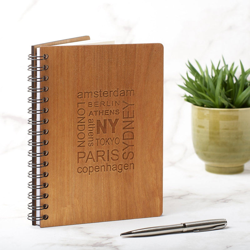 Notebook Planner - A5 Travel Note Book, Journal - Cities