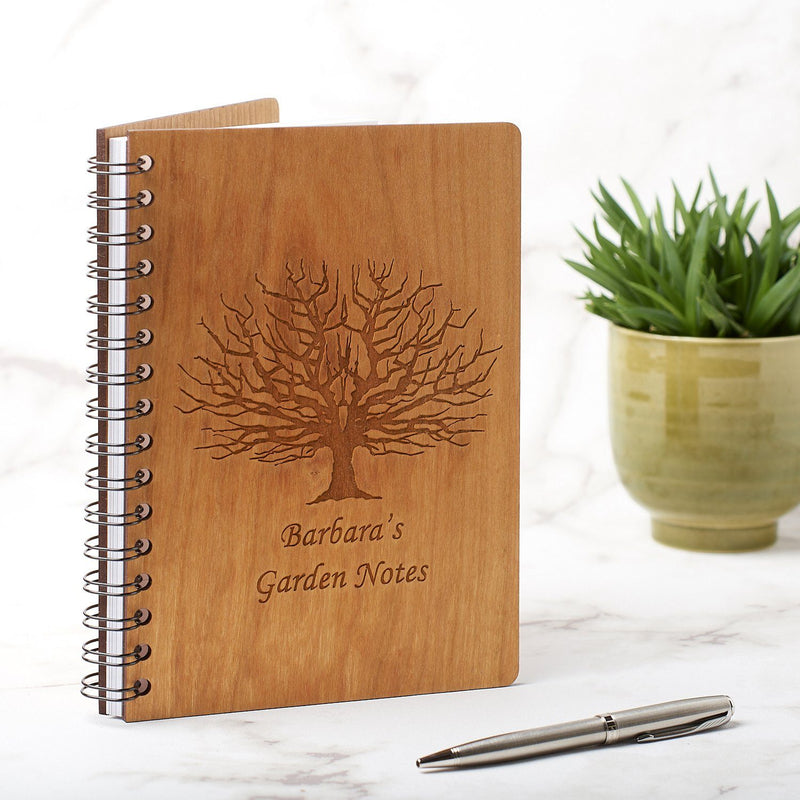 Notebook Planner - Personalised A5 Gardening Note Book, Journal, Planner -  Tree