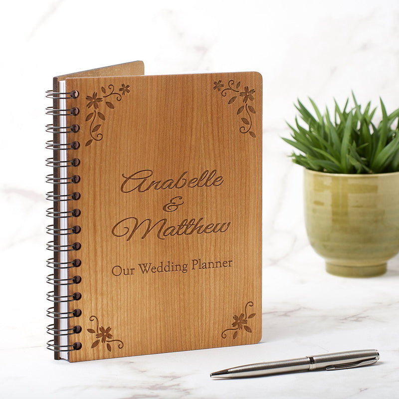 Notebook Planner - Personalised A5 Wedding Journal, Planner Or Guest Book - Floral Design