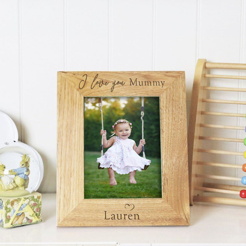 Photo Frame - Personalised Baby Photo Frame - I Love You Mummy Daddy
