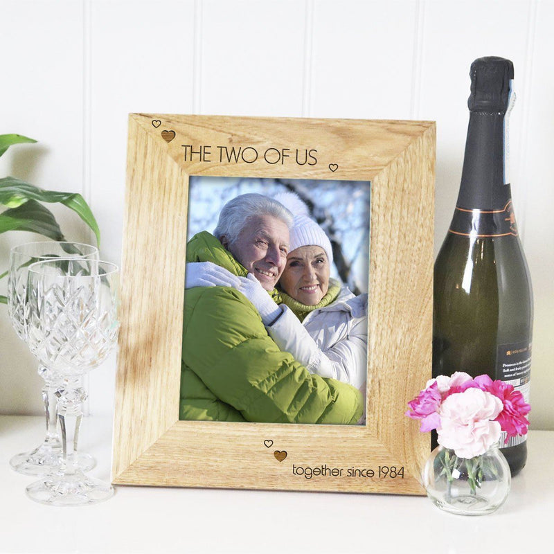 Photo Frame - Personalised Couples Photo Frame - The Two Of Us Since